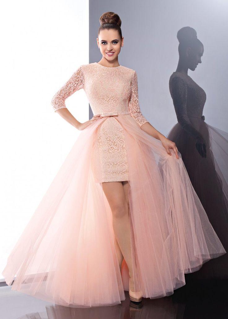платье из фатина со съемной юбкой
