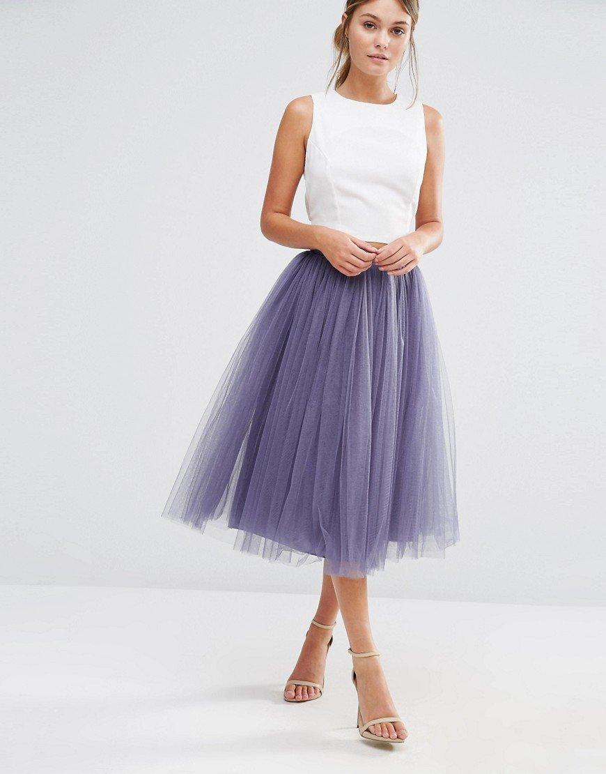 платье из фатина юбкой-пачка