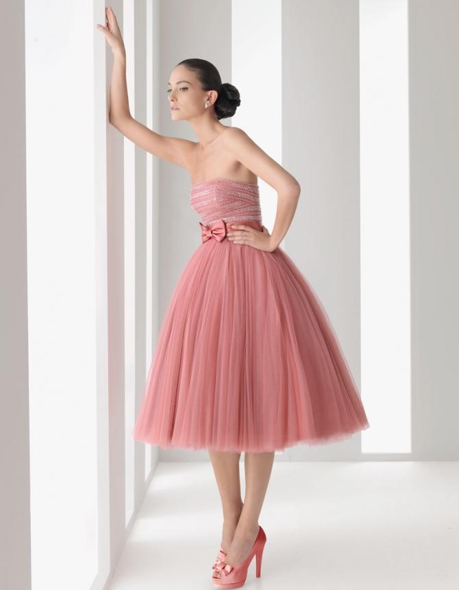 платье из фатина для выпускного розовое