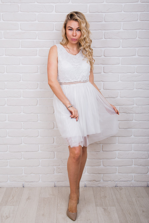 платье фатин белый