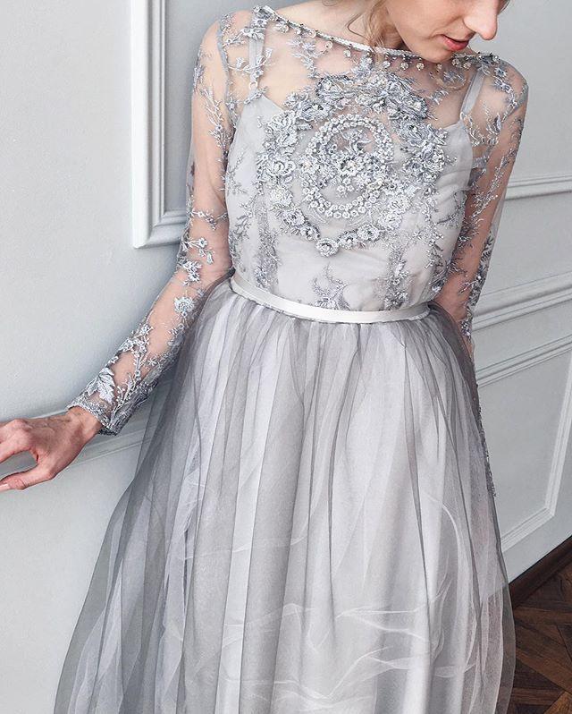 платье фатин и кружево