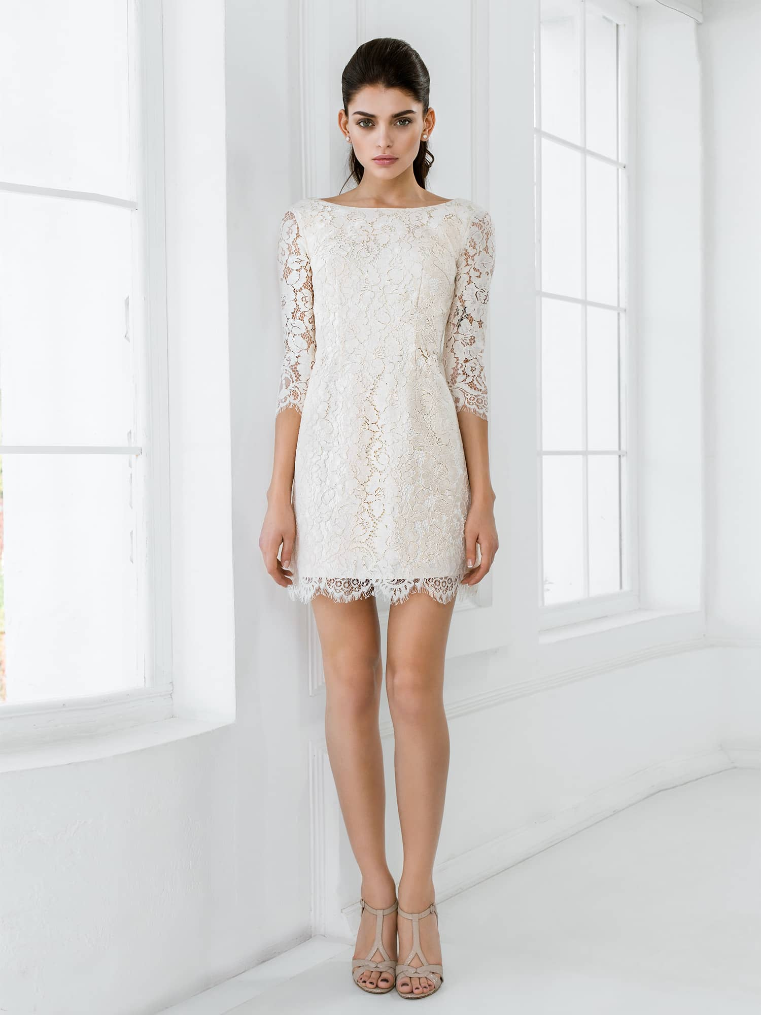 короткое свадебное платье фото