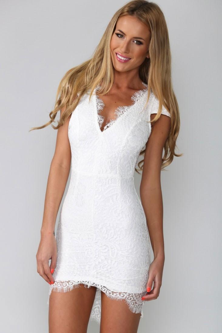 короткое платье кружевное фото