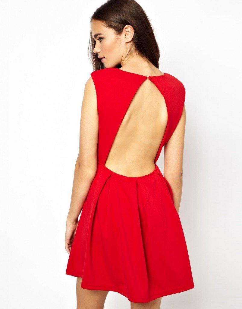 короткое платье с открытой спиной фото