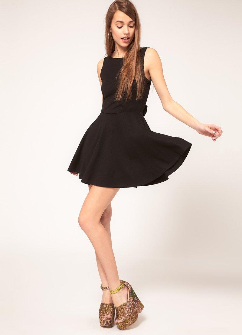 короткое платье с юбкой солнце фото