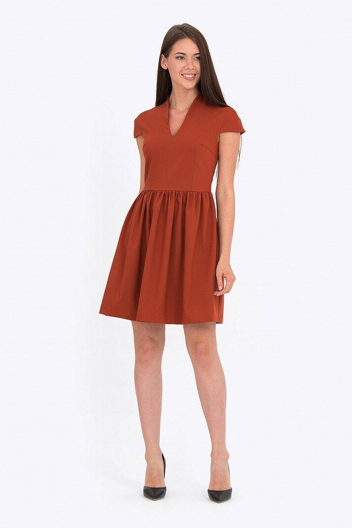 короткое платье с отрезной талией фото