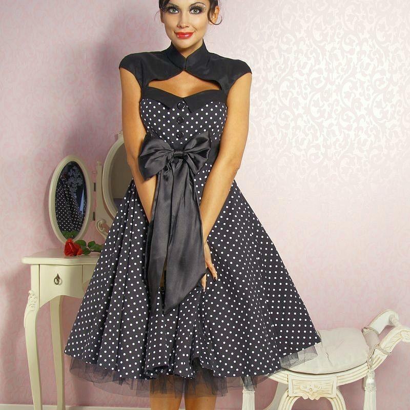 короткое платье в стиле ретро фото