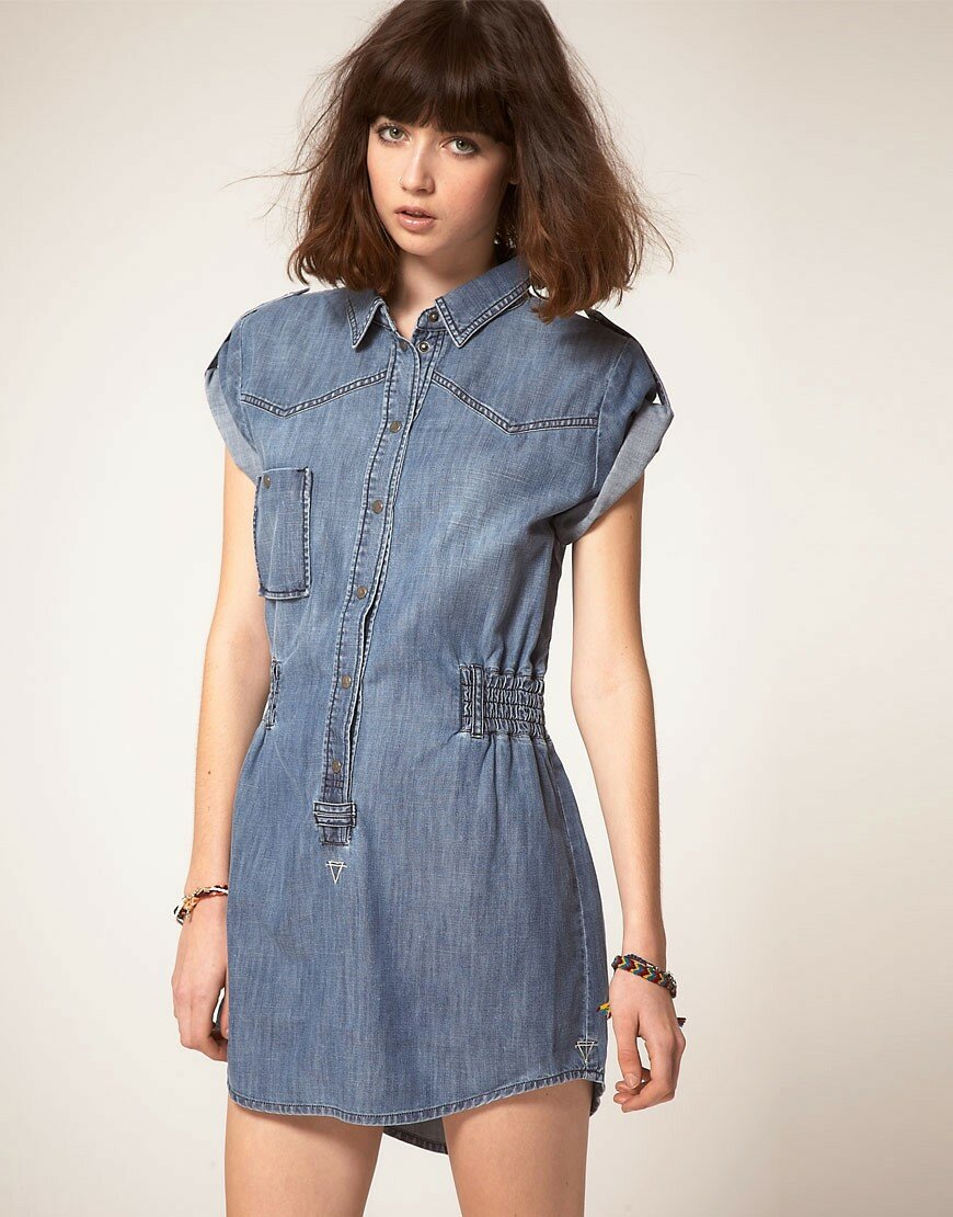 короткое джинсовое платье фото