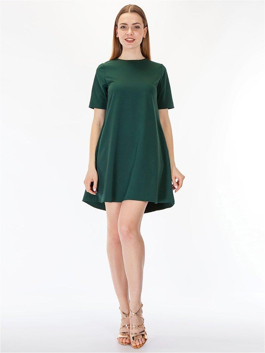 платье короткое А-силуэта фото