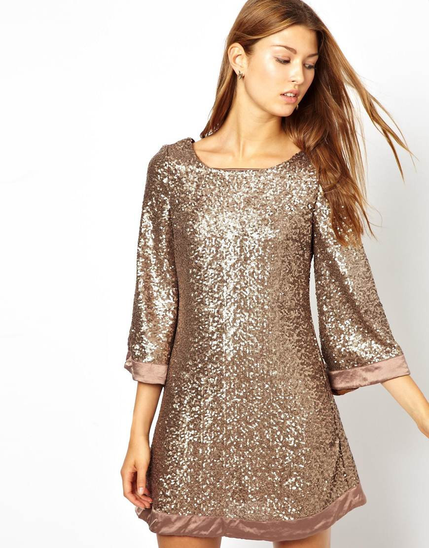 платье туника вечернее из пайеток