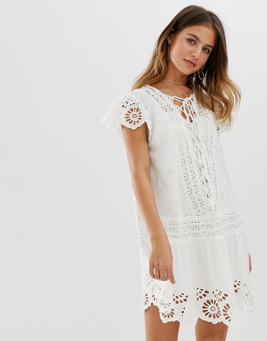 платье туника белое