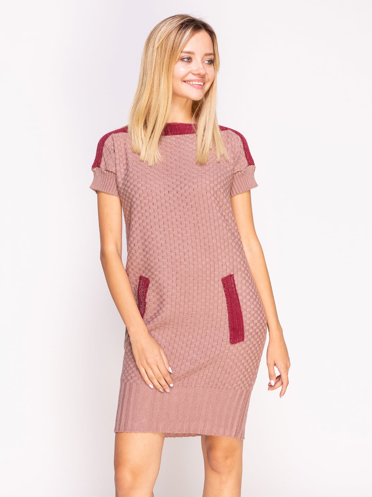 платье туника розовое