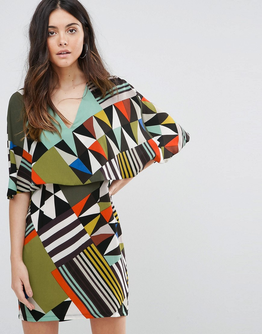 платье туника геометрический принт
