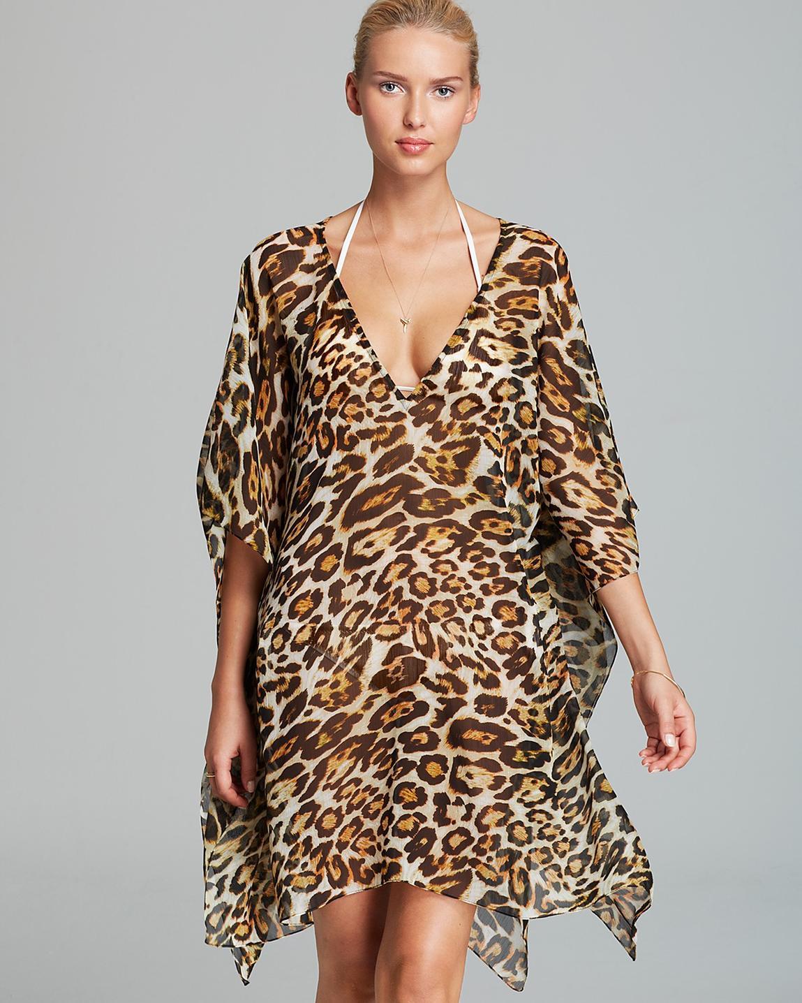 платье туника животный принт