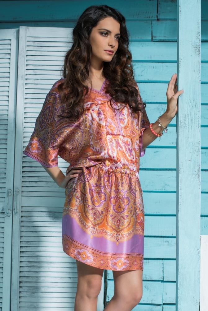 платье туника шелк