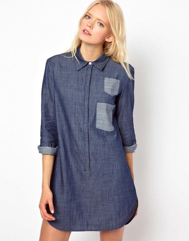 платье туника Джинсовое