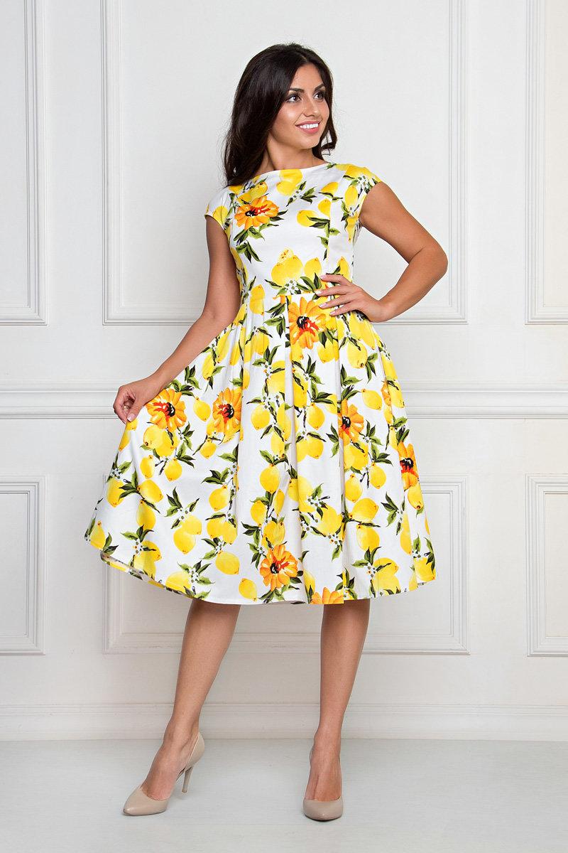 платье хлопковое с пышной юбкой
