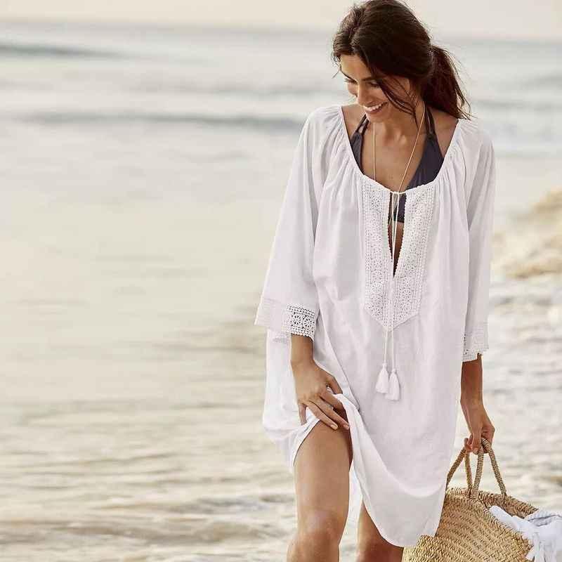 хлопковое пляжное платье