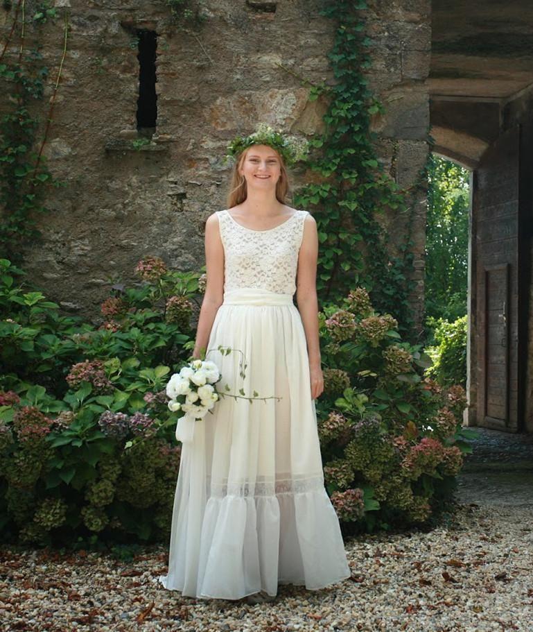 платье хлопковое свадебное бохо