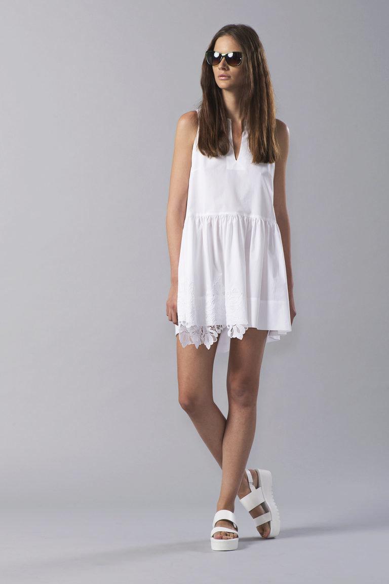 платье хлопковое длинное