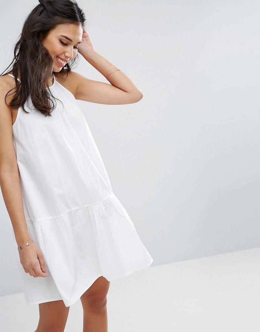 платье хлопковое цвет белый