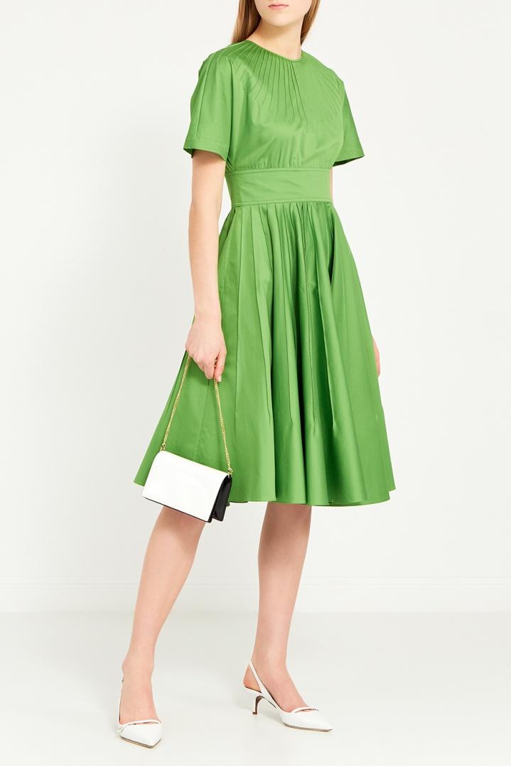 платье хлопковое цвет зеленый