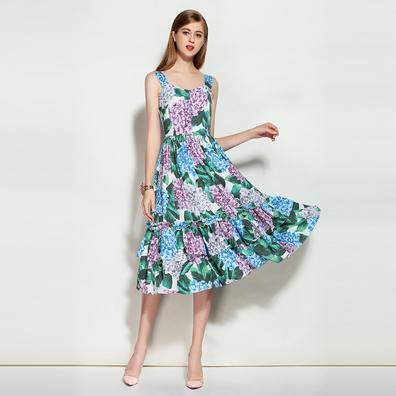 платье хлопковое цветочный принт