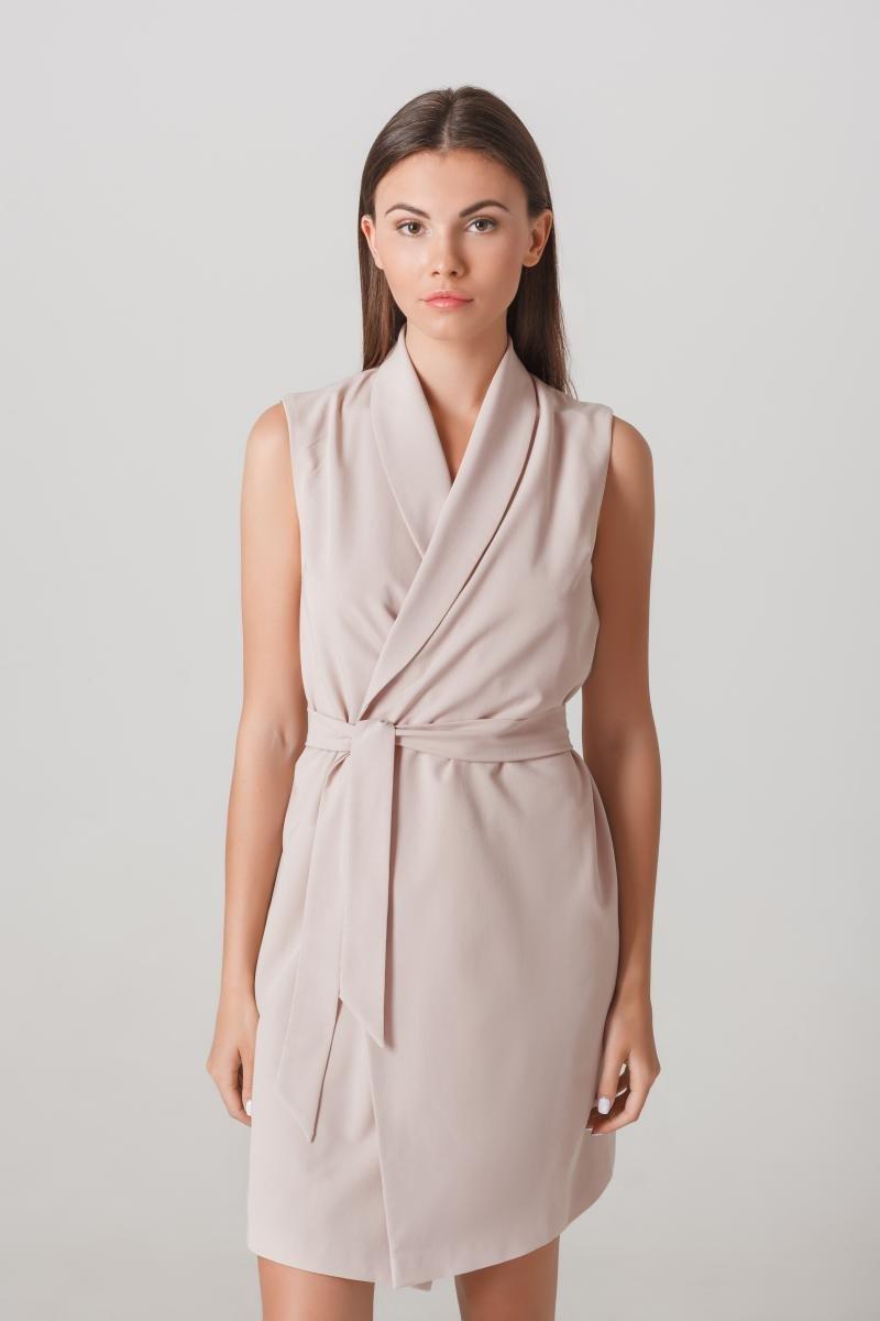 платье халат без рукавов