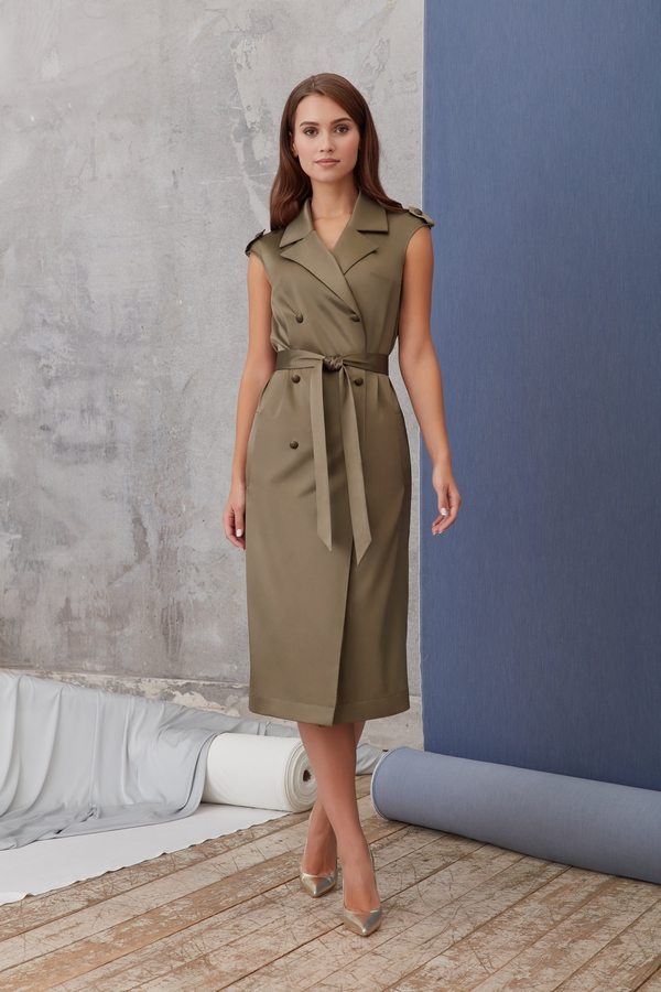 платье халат в стиле сафари