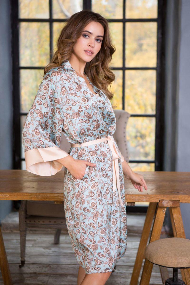 платье халат домашнее с принтом