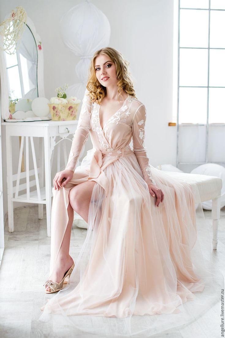 платье халат свадебное