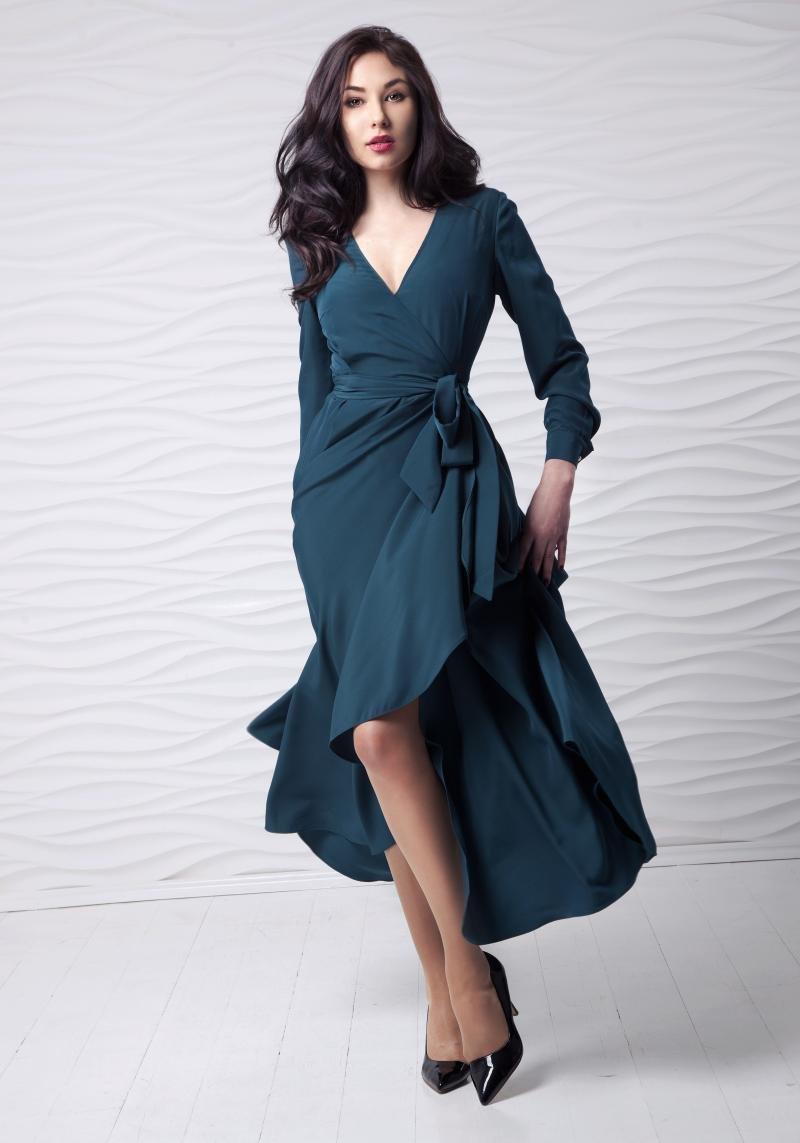 платье халат вечернее миди