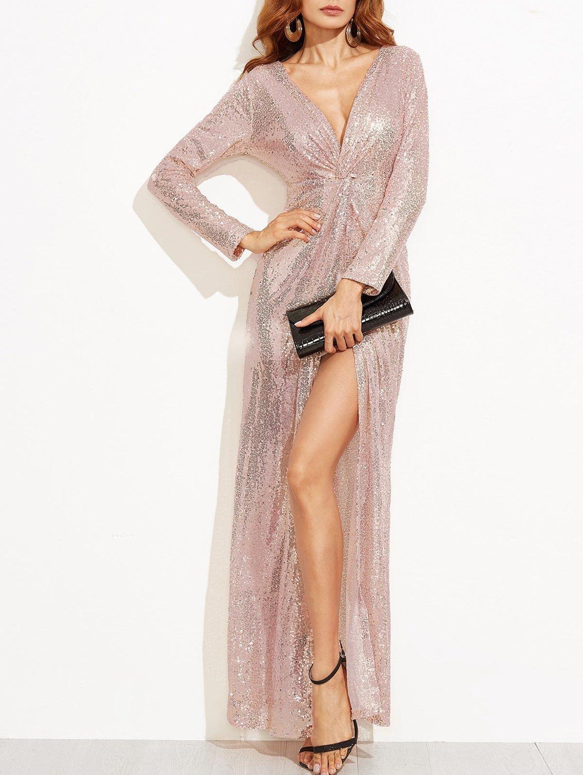 платье халат вечернее блестящее