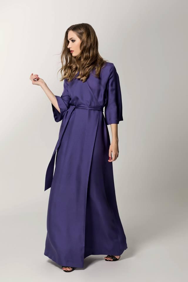 платье халат длинное в пол