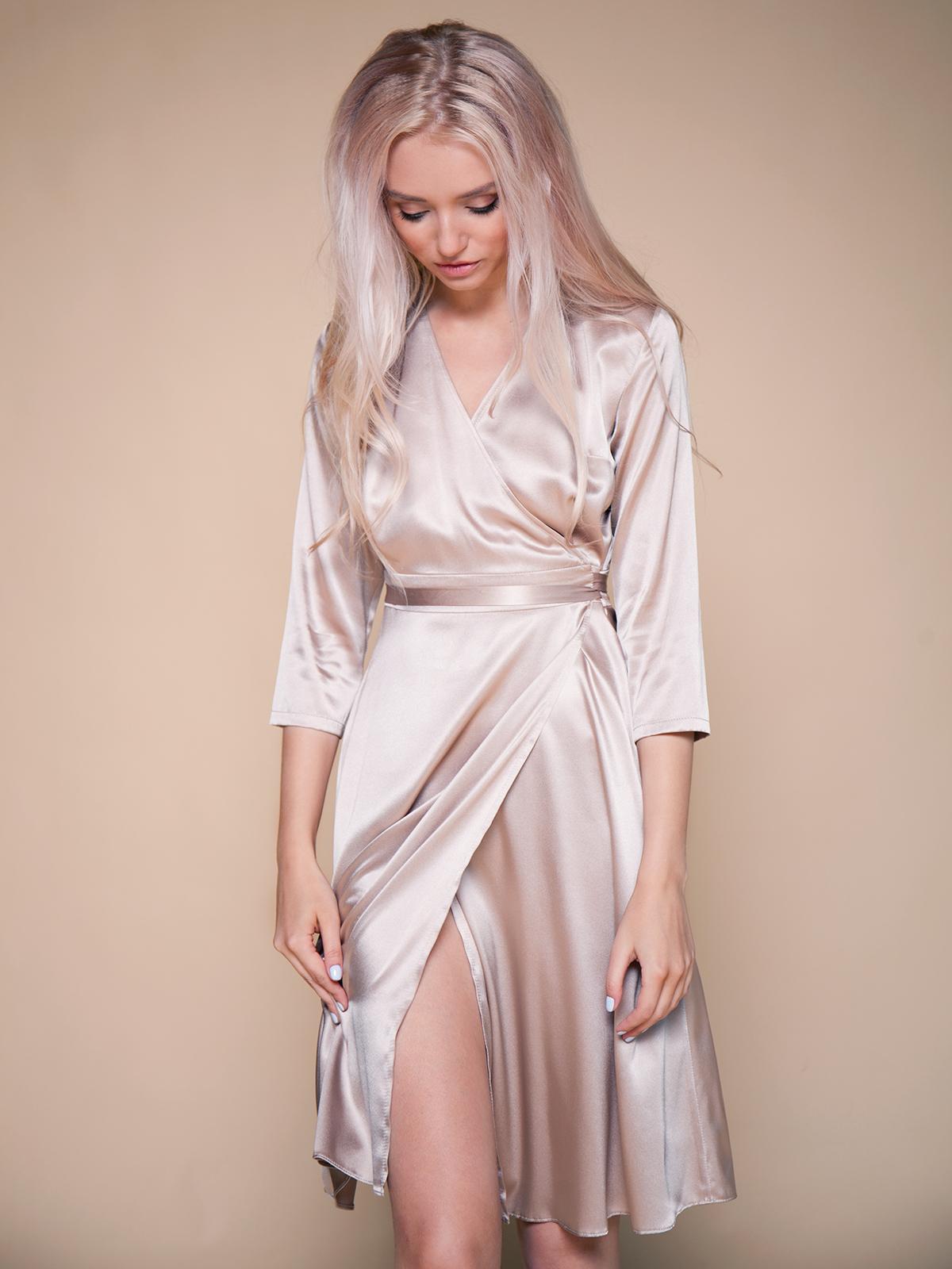 платье халат короткое