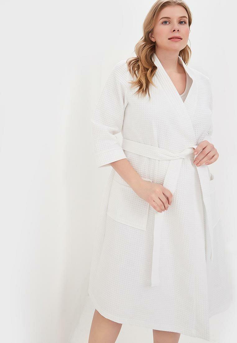 платье халат цвет белый