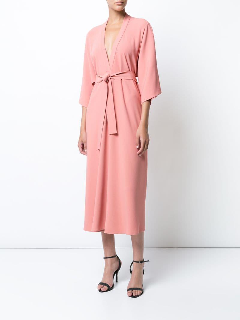 платье халат цвет розовый