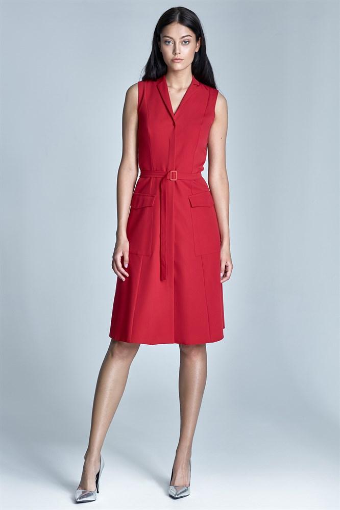 платье халат цвет красный