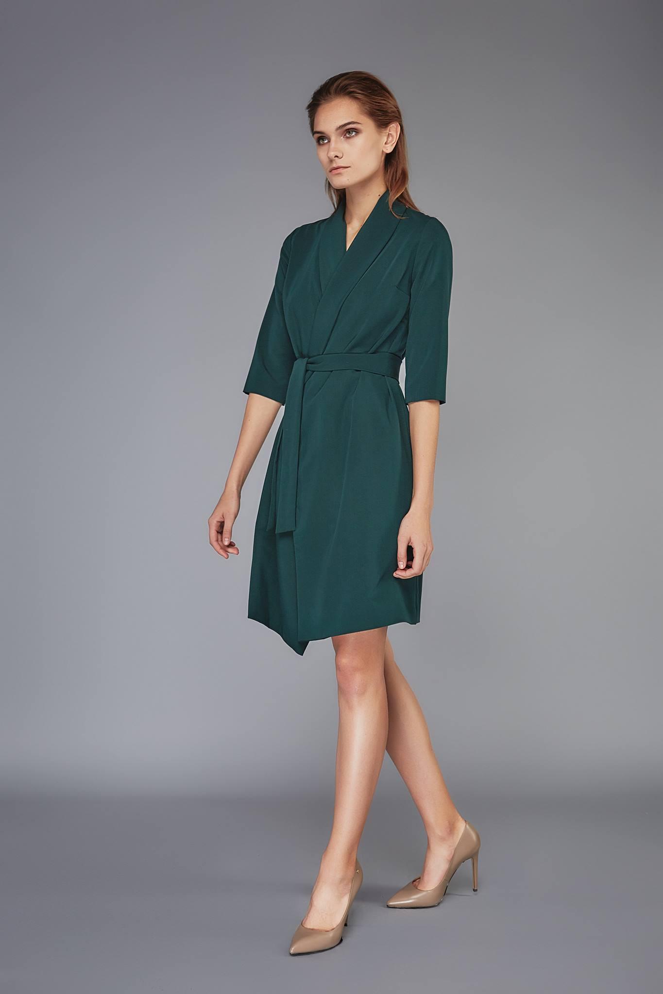 платье халат цвет зеленый