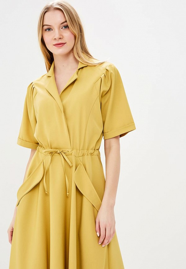 платье халат цвет желтый
