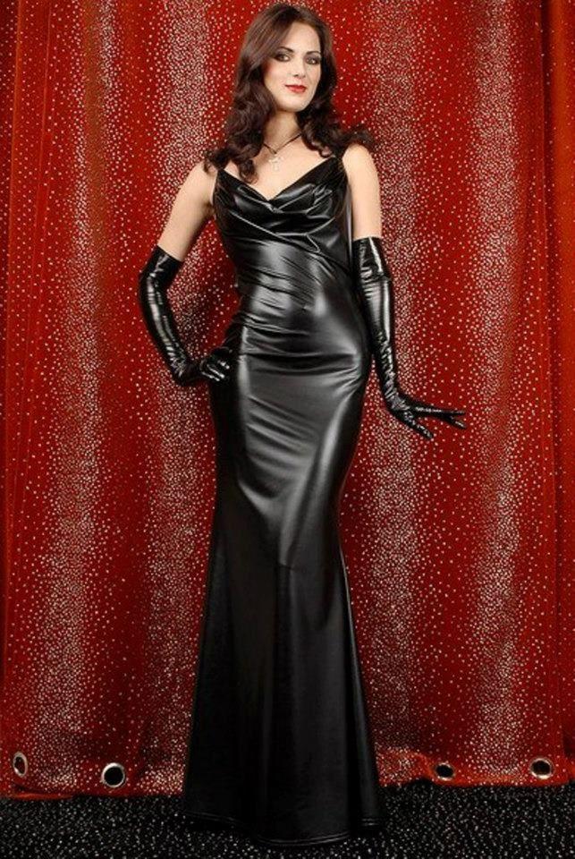 кожаное платье вечернее длинное