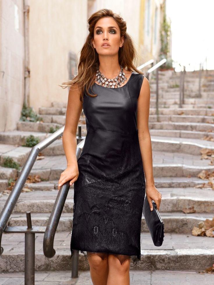 кожаное платье и колье