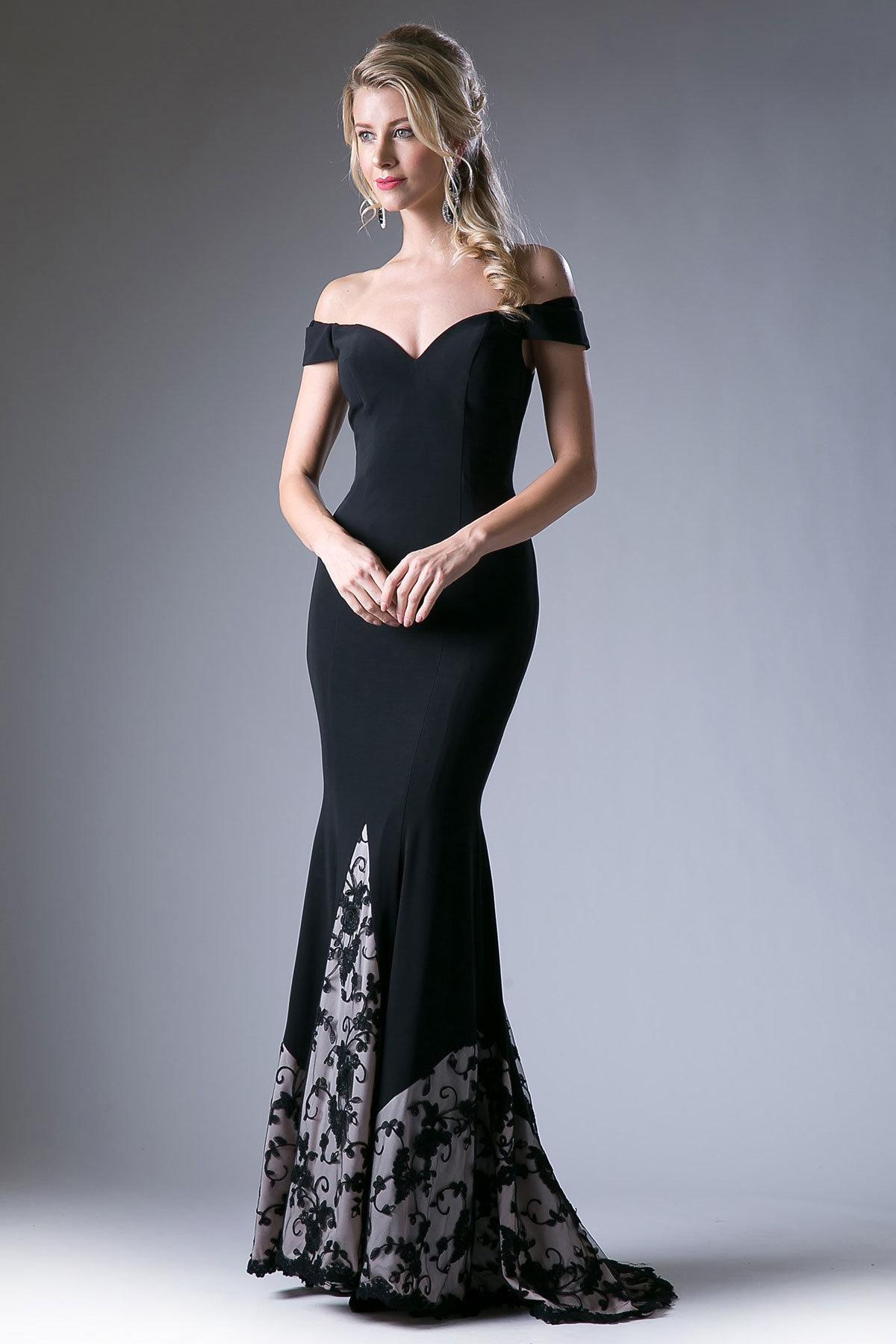 платье с открытыми плечами вечернее длинное