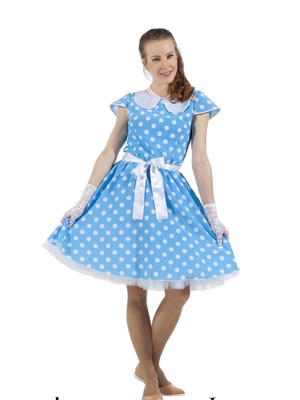 синее платье в стиле стиляги фото