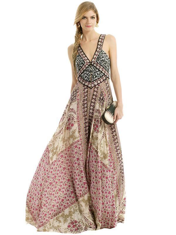 нарядное платье в стиле бохо фото