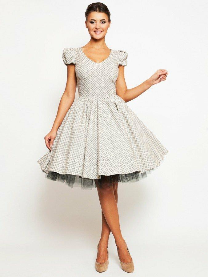 нарядное платье с пышной юбкой фото