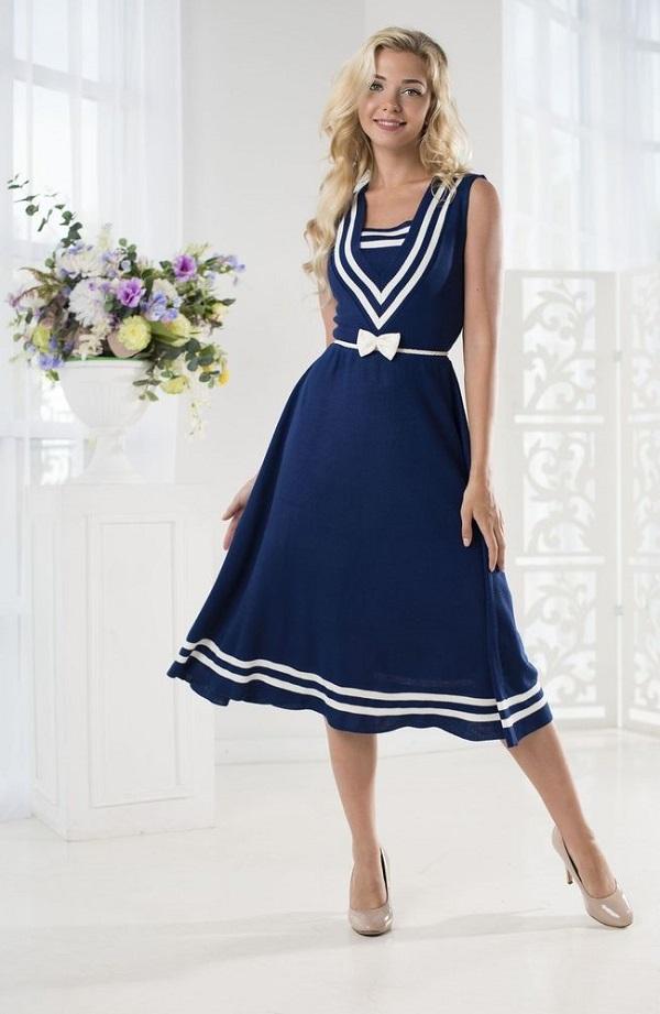 нарядное платье в морском стиле фото
