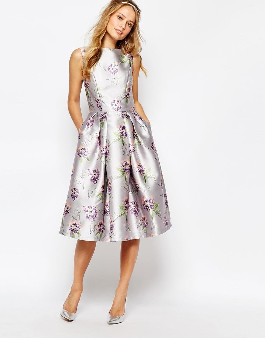 нарядное платье миди фото