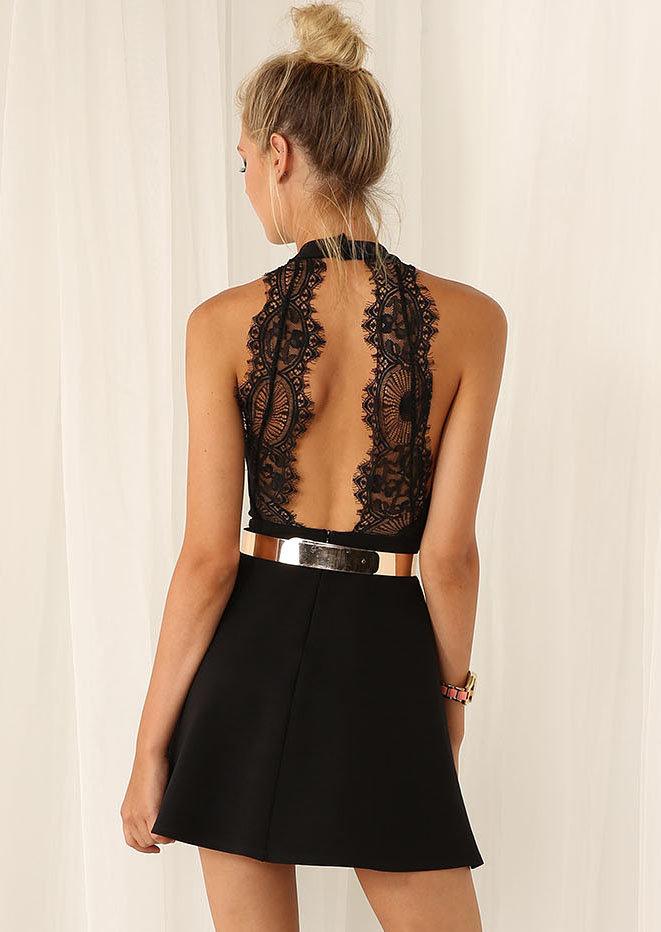 нарядное платье с открытой спиной фото