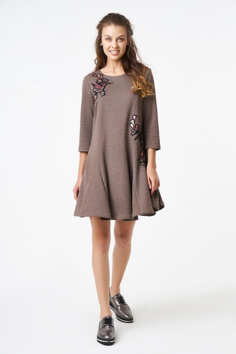 нарядное платье А-силуэта фото